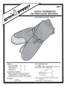 Adult Overmitts or Insulated Mittens Sewing Pattern