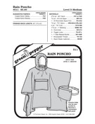 Adult Rain Poncho Sewing Pattern