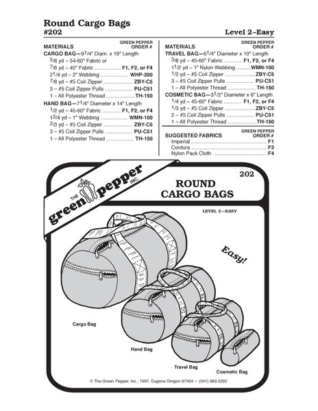 Cargo Bag, Hand Bag, Travel Bag, Cosmetic Bag Sewing Pattern