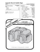 Cascade Bicycle Saddlebags Sewing Pattern