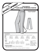 Children's Cascade Powder Pants Sewing Pattern