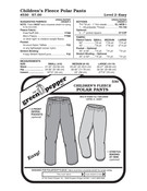 Children's Fleece Polar Pants Sewing Pattern