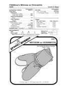 Children's Overmitts or Insulated Mittens Sewing Pattern