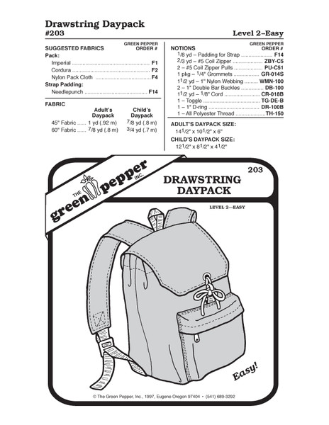 GP-Drawstring Daypack Pattern