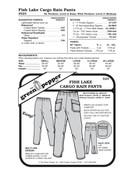 Fish Lake Cargo Rain Pants Sewing Pattern