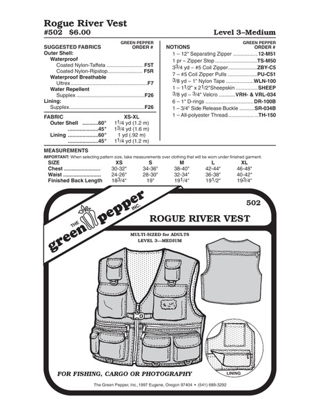 Fishing Vest Sewing Pattern