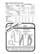 GP-Men Bicycle Racing Jersey Pattern