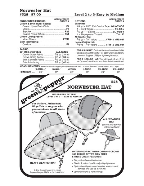 Norwester Hat Sewing Pattern