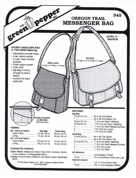 GP-Oregon Trail Bag Pattern