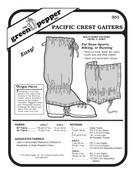 Pacific Crest Gaiters Sewing Pattern