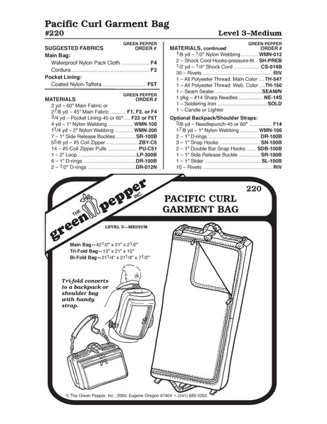 GP-Pacific Curl Garment Bag Pattern