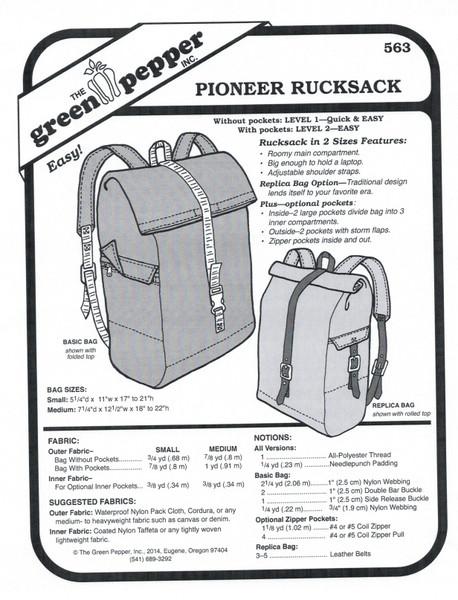 243fe40b06 Pioneer Rucksack Sewing Pattern