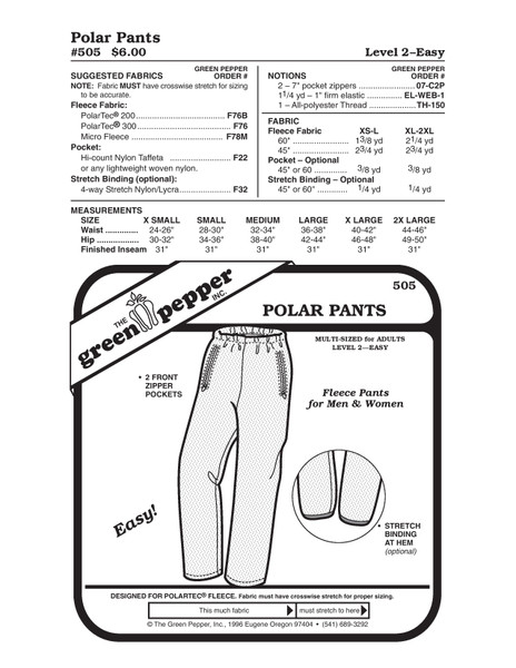 Polar Pants Sewing Pattern