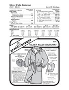 Silver Falls Raincoat Sewing Pattern