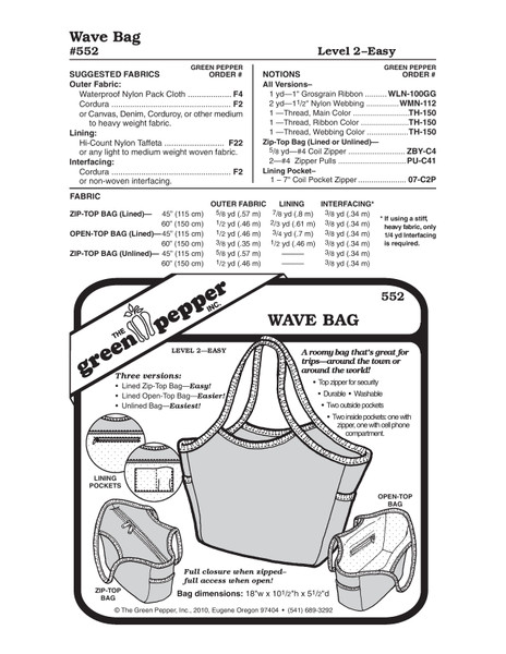GP-Wave Bag Pattern