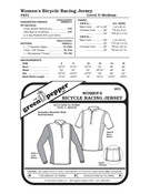 GP-Women Bicycle Racing Jersey Pattern