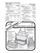 Work Apron & Tool Belt Sewing Pattern