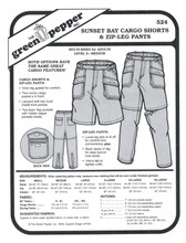 Sunset Bay Cargo Shorts & Zip-Leg Pants Sewing Pattern